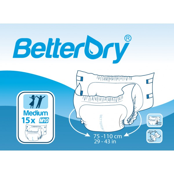 BetterDry M10, Medium, 15 kpl pakkaus