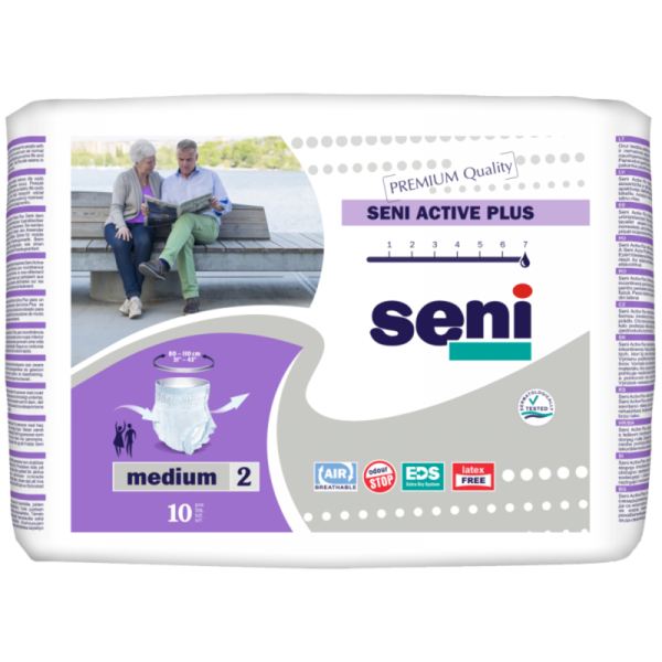 Seni Active Pants Plus, Large, 10 kpl pakkaus