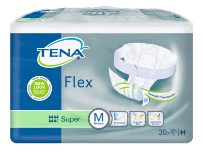Tena Flex Super, Medium, 30 kpl pakkaus